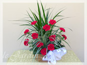 Planter with Live Plants and Fresh Cut Carnations II